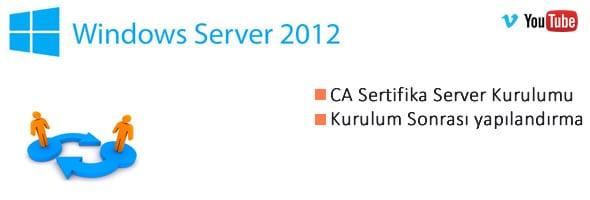 Server 2012 üzerine Sertifika(CA) Server Kurulumu 2