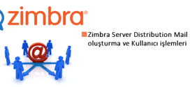 Zimbra Mail Server Distribution Mail Grup işlemleri 1