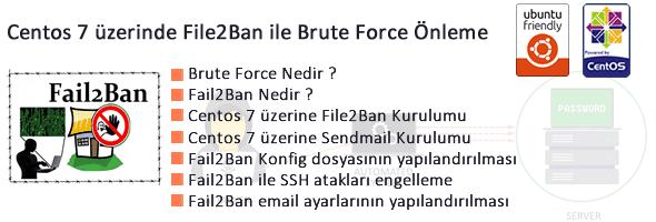 Centos 7 üzerinde File2Ban  ile Brute Force Önleme 22
