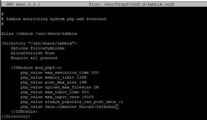 Centos 7 üzerine Zabbix 4.2 kurulumu 4