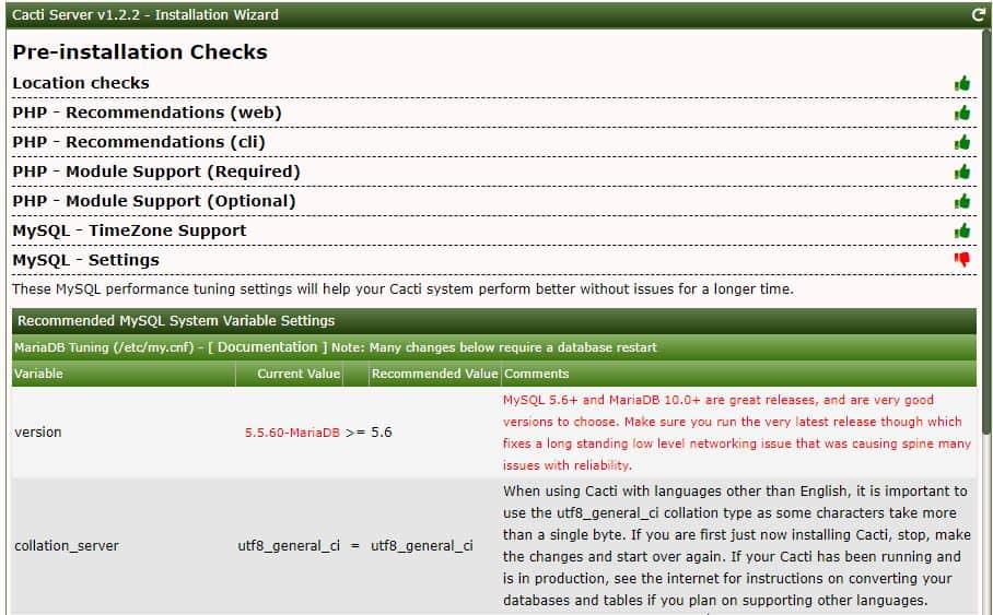 Centos 7 üzerine Cacti 1.2.2 Kurulumu 15
