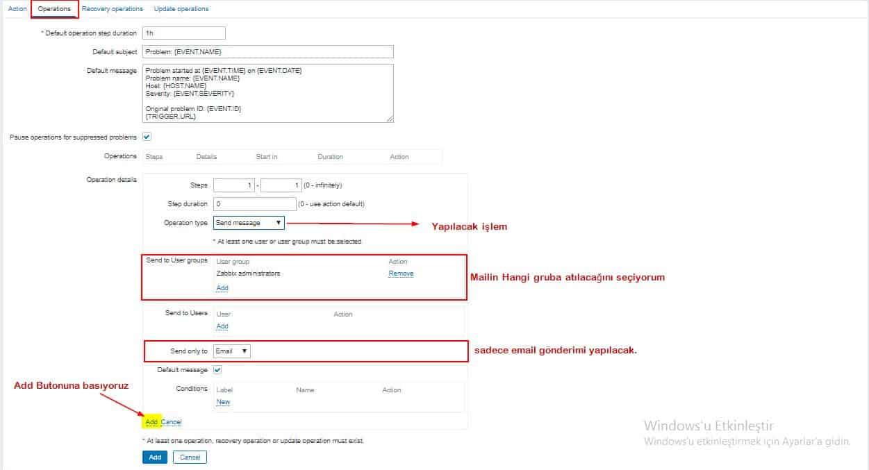 Zabbix E-mail Ayarlarının Yapılandırılması 19
