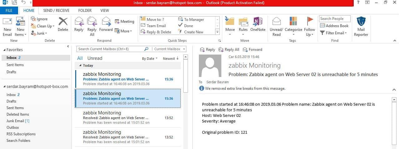 Zabbix E-mail Ayarlarının Yapılandırılması 21
