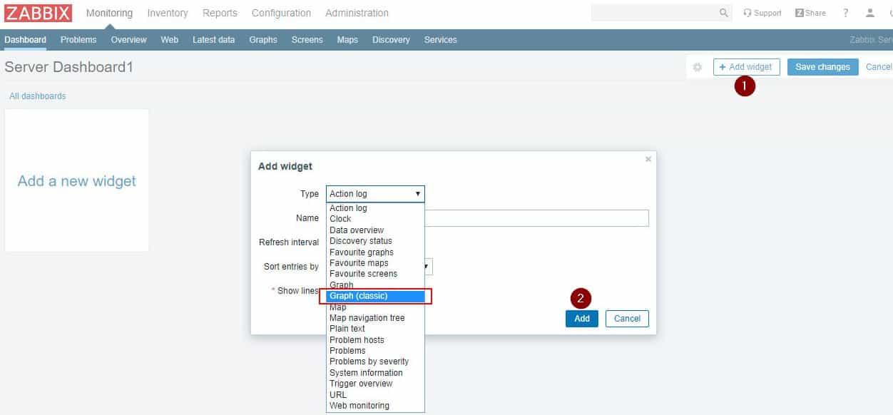 Zabbix Dashboard oluşturma işlemleri 6