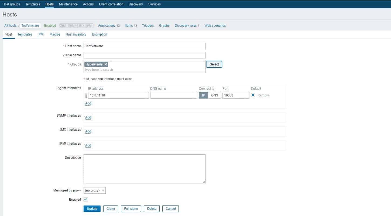 Zabbix Server Vmware Entegrasyonu 4