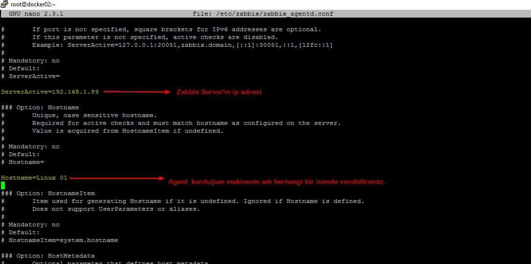 Linux üzerine Zabbix Agent kurulumu 7