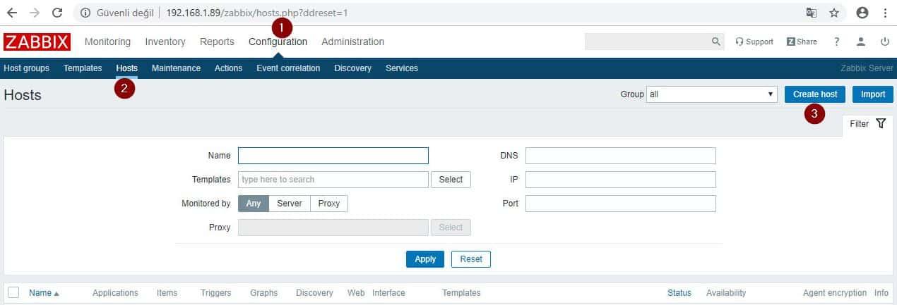 Zabbix Server SNMP Yapılandırması 5