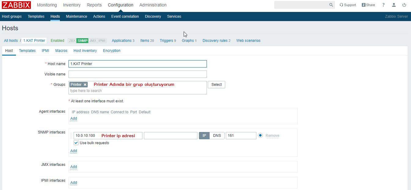 Zabbix Server SNMP Yapılandırması 6