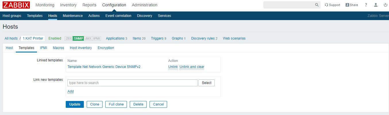 Zabbix Server SNMP Yapılandırması 7